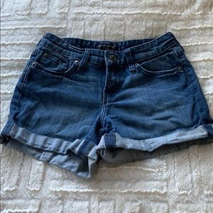 Folded hem banana republic jean shorts